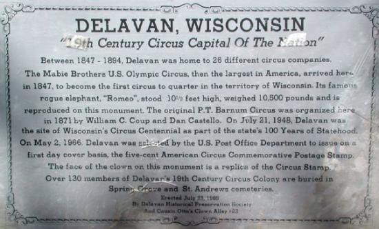 "‪‪Delavan‬, ‪Wisconsin‬: ""19th Century Circus Capital of the Country""