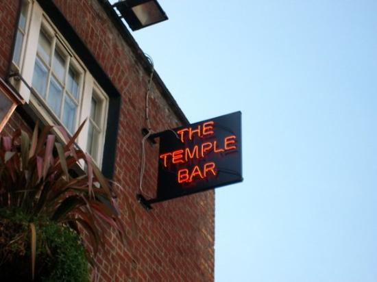 The Temple Bar sign
