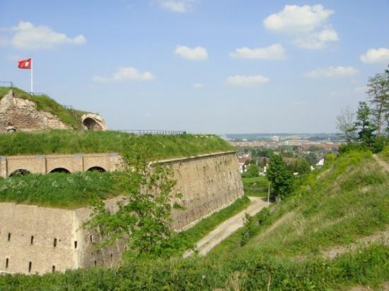Maastricht, The Netherlands: Another picture of the fort with the city in the background.
