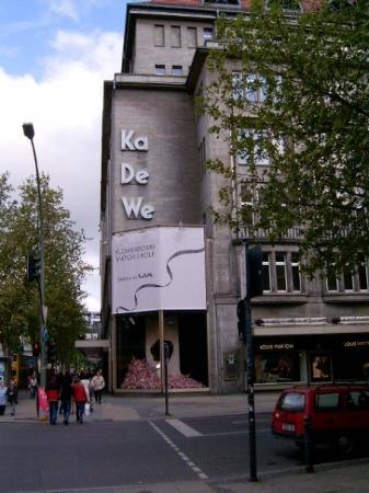 Kaufhaus des Westens (KaDeWe).  Berlin's version of Saks.  I spent many euros in there!