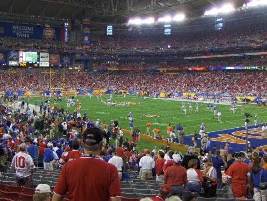 Phoenix, AZ: Inside the dome, waiting for the game to start.
