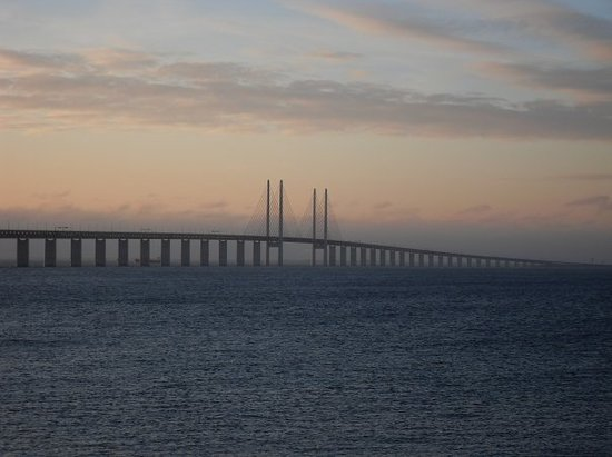 Take the train over the bridge to Malmo - Oresund Bridge, Malmo