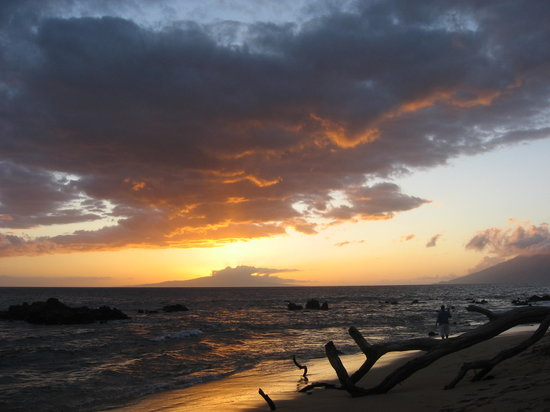 Kihei, Hawaï : Sunset at Keawakapu