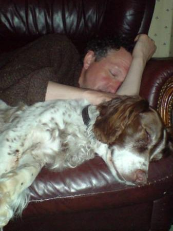 Weymouth, UK: fast asleep with dinker after a day on the beach