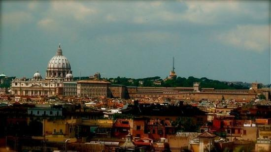 Roman Curia: View from the Villa Medici to the Vatican (St. Marks)