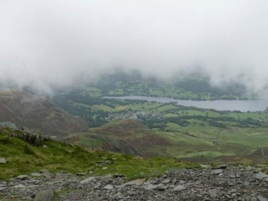 View of Coniston water from top