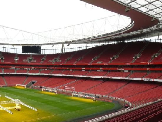 Стадион арсенала в лондоне на карте