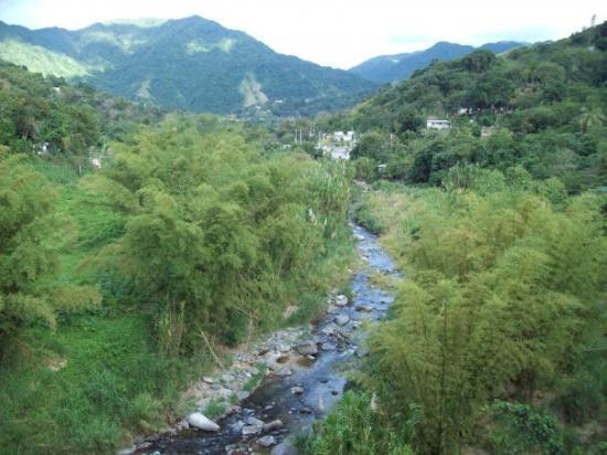 Jayuya, Puerto Rico: Vista del Rio Coabey desde El Tablado