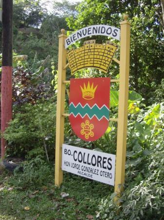 Jayuya, Puerto Rico: Letrero de bienvenida a Collores