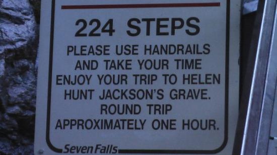 Seven Falls: I counted, there really were 224 steps.........and I hung on to the handrails the whole way! I f
