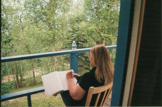 Ridgetop Cabins : 11:00 pm writing in my journal