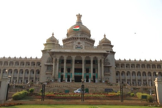 Bangalore, India: Vidhana Soudha (House of Karnataka State Legislature)