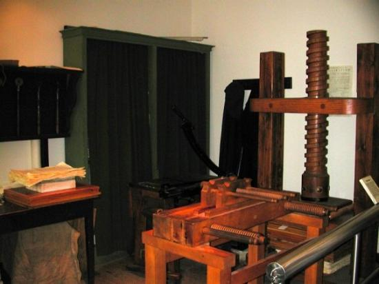 Independence National Historical Park: Franklin-Bache's printing press.