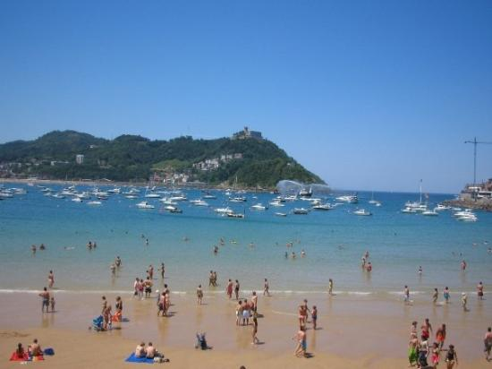 San Sebastian Donostia Spain Beach In
