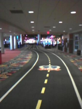 Route 66 Casino Hotel: the hallway leading to the casino.
