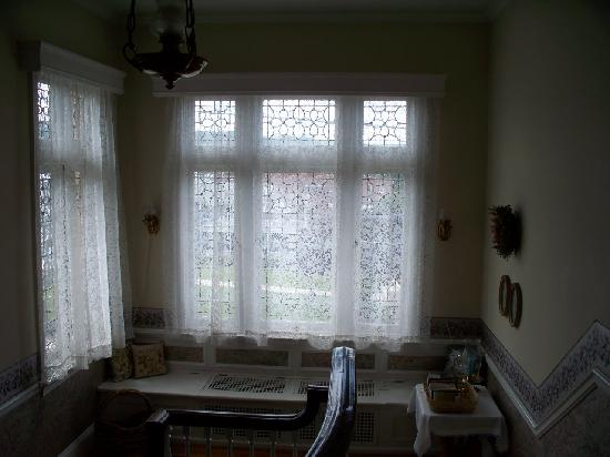 The Stone House B&B: The window seat is a cozy spot to read a book.