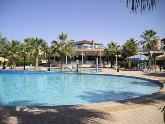 Wave pool at the compound outdoor music playing is - Hotels in riyadh with swimming pools ...