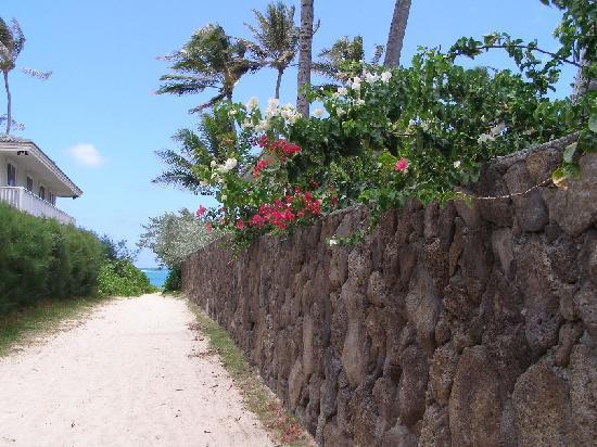 Lanikai Beach Rentals LLC : walkway to beach--further down road