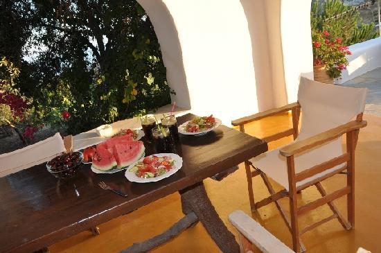 Apostolis Windmill: Lunch on our terrace