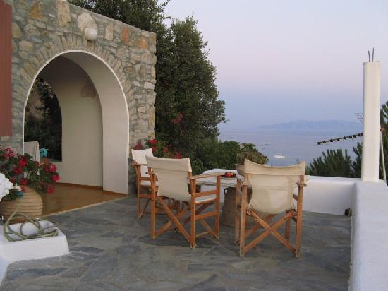 Apostolis Windmill: Our terrace