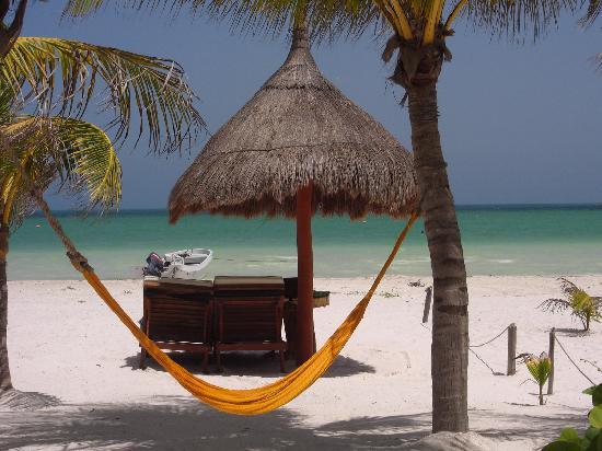 Holbox Hotel Casa las Tortugas - Petit Beach Hotel & Spa: Dal bar, durante la colazione