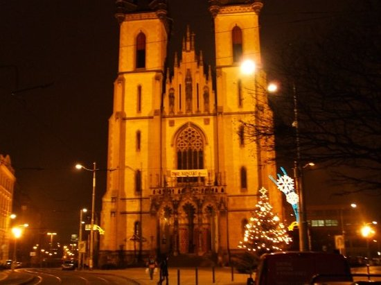 Prague, Czech Republic: Illuminated Church