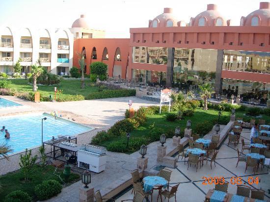 Titanic Beach Spa & Aqua Park: looking at reception from pool