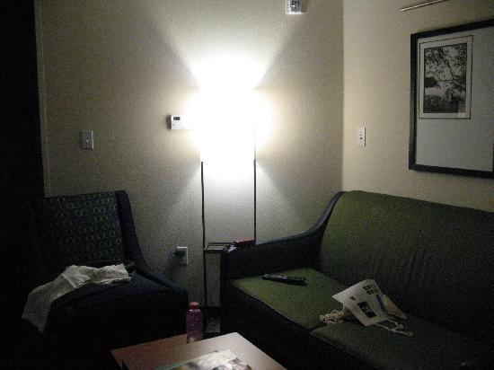 Fairfield Inn & Suites Portland North : Sitting area (sofa and chair)