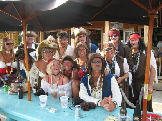 The Scurvy Pirates at the Harbor Shack - Pirates and Wenches Weekend