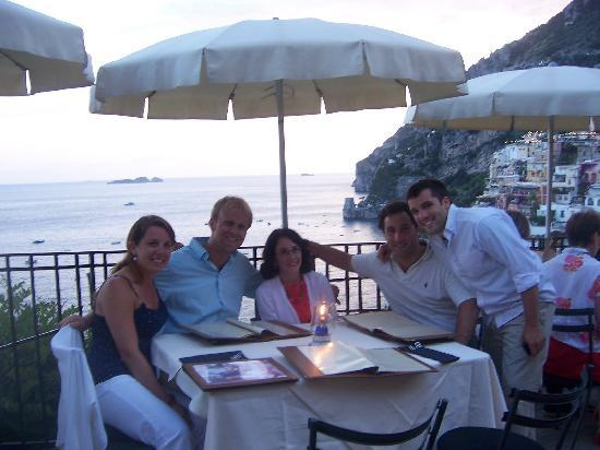 our family sitting outdoors at Bruno