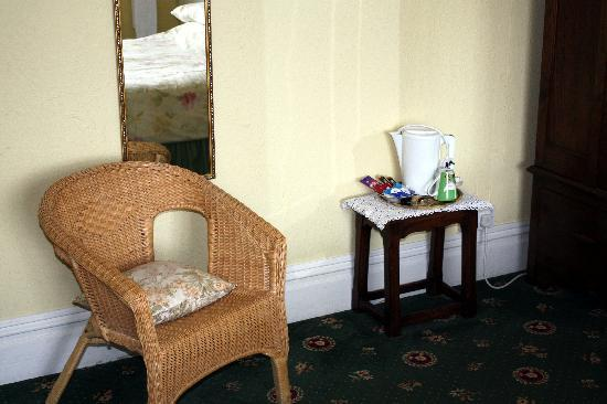 The Anchorage: Chair and hospitality tray