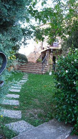 Calvi dell'Umbria, Ιταλία: Path to guesthouse from pool