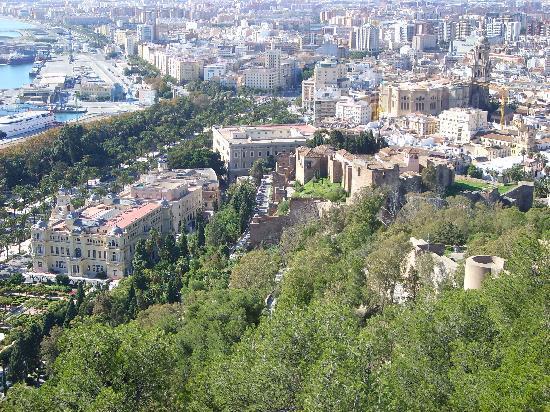 Marriott's Marbella Beach Resort: Malaga from the castle