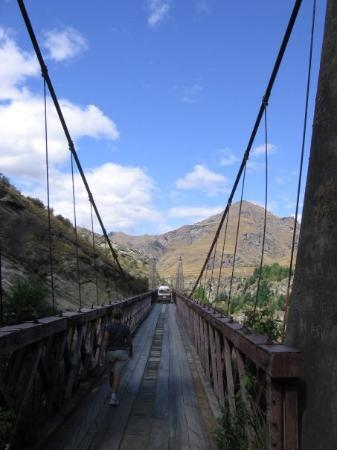 Skippers Canyon Jet: We were allowed to walk across the bridge on the way back, as our bus went ahead.