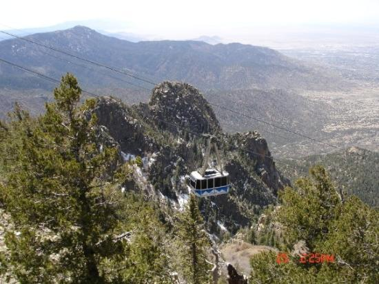 Sandia Peak Tramway: Headed up the mountain in Albuquerque