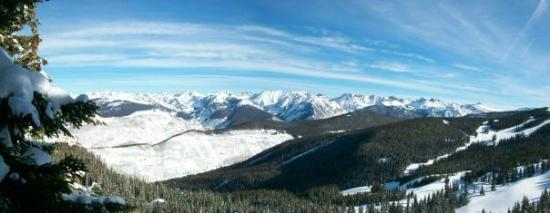 Vail Mountain Resort: Gore Range, from the Top of Vail