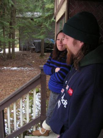 Nelson, Kanada: front porch of our house in Canada, that's my friend Rachel