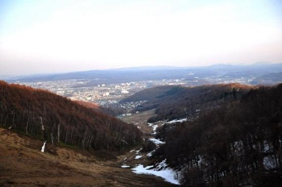 Sapporo, Japan: city view from mt Moiwa 藻岩山