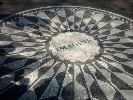 Strawberry Fields, John Lennon Memorial: Strawberry Fields, and the John Lennon memorial.