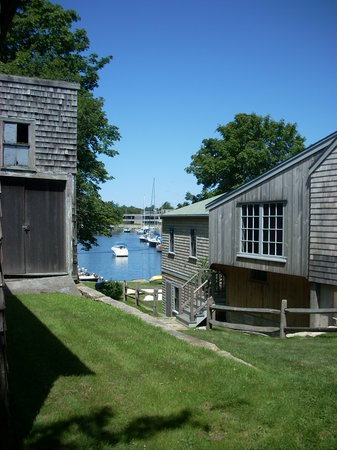 Woods Hole Oceanographic Institution: A view of Eel Pond from one of the buildings at Woods Hole Oceanographic.