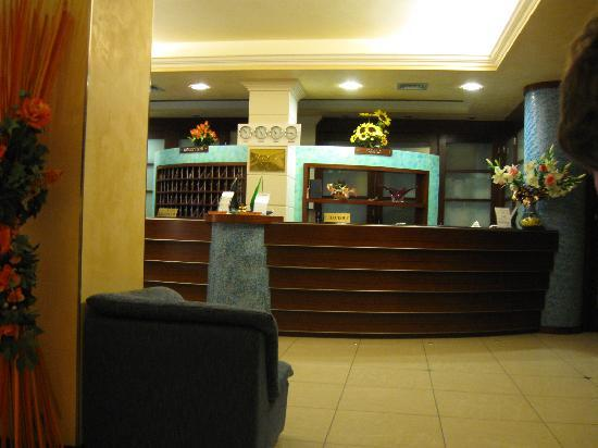 Lido Di Camaiore, Italy: Hotel reception at night