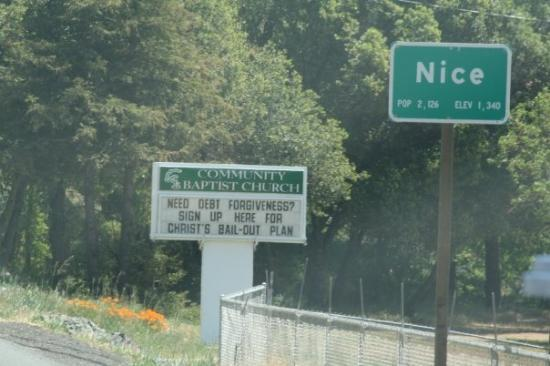I can now claim I have been to Nice, CA.