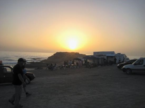 Taghazout Beach : Sunset over the Atlantic