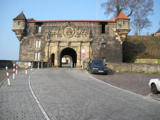 Hohentubingen Castle (Schloss): The Schloss HohenTuebingen entryway. . .