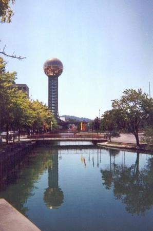 Sunsphere Tower: Sunsphere at World's Fair Park.  Knoxville, Tennessee, 1999.