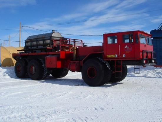 McMurdo Station: flipper the water truck
