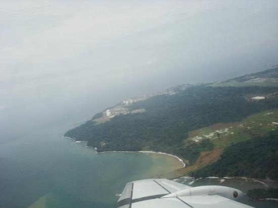 Bata, desde el avión