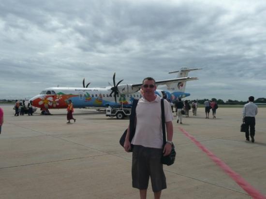 Propeller plane to Siem Reap