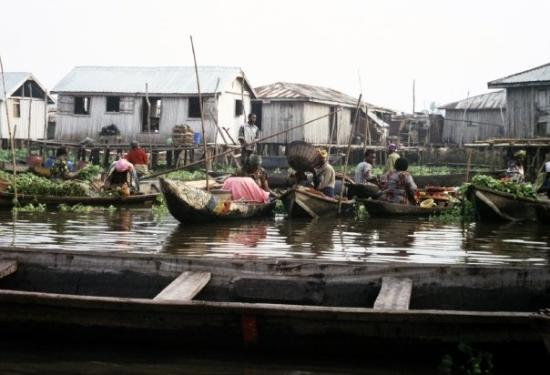 Floating market. Ganvie, Benin 24.12.08