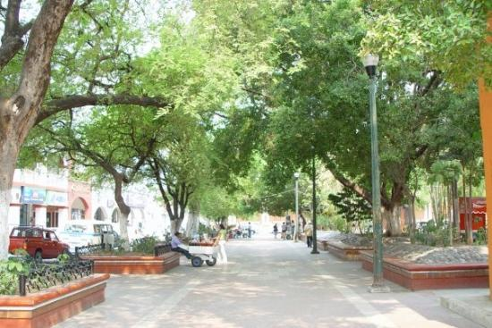 The plaza in Iguala.